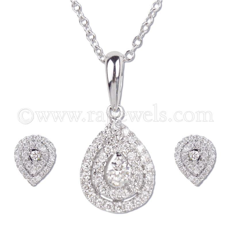 18k Diamond 18K Diamond Pendant Necklace