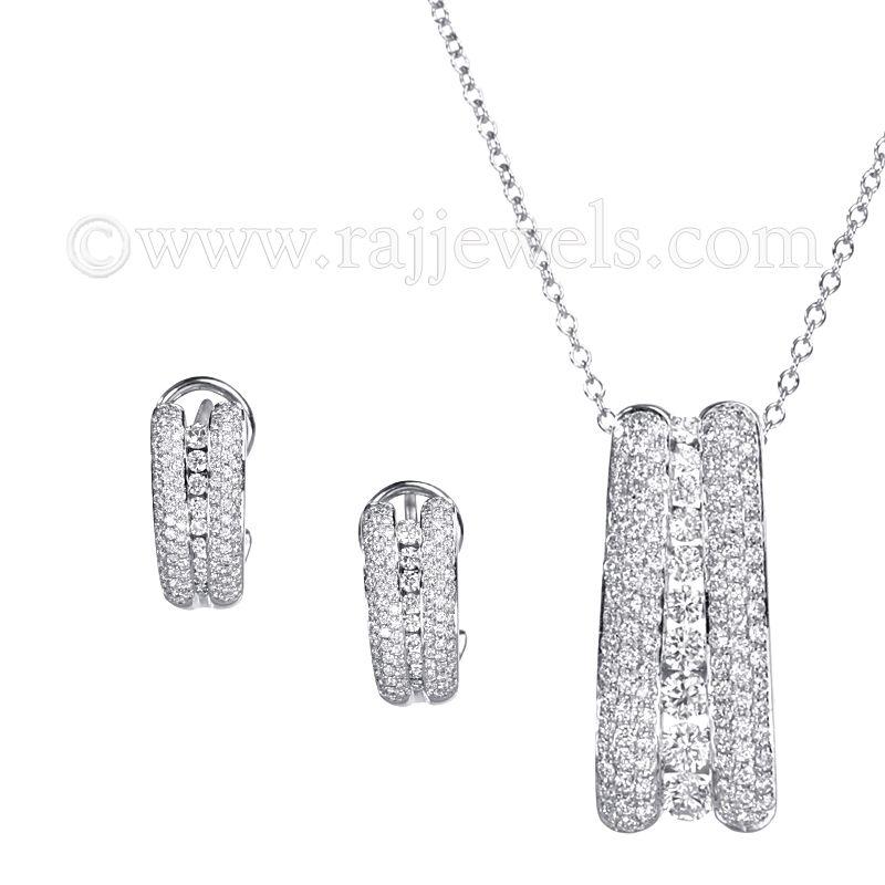 18k Diamond Designer Diamond Pendant Necklace