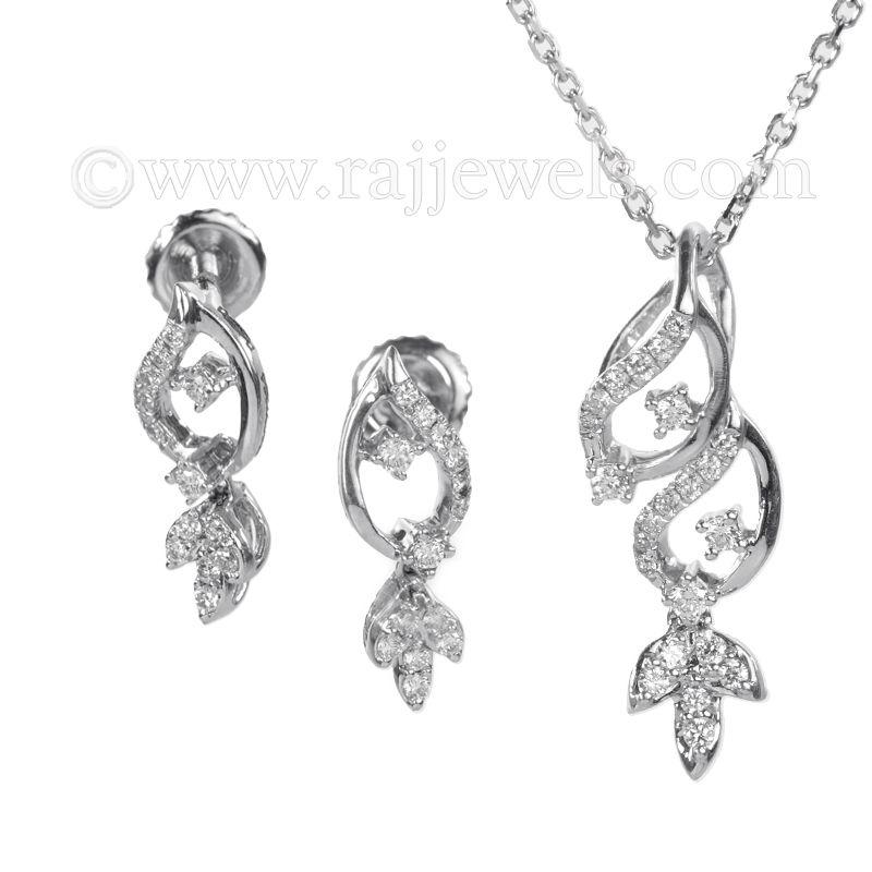 18k Diamond Floral Drops Pendant Necklace