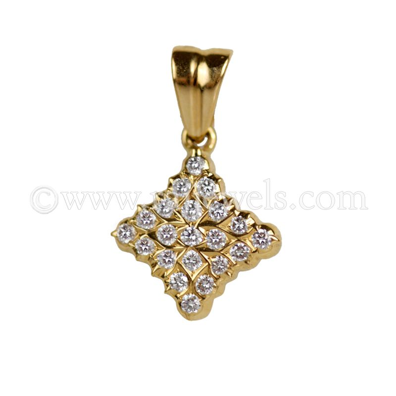 22k Diamond 22K Yellow Gold Diamond Pendant