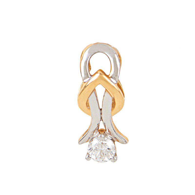 18k Diamond Two-Tone Diamond Pendant