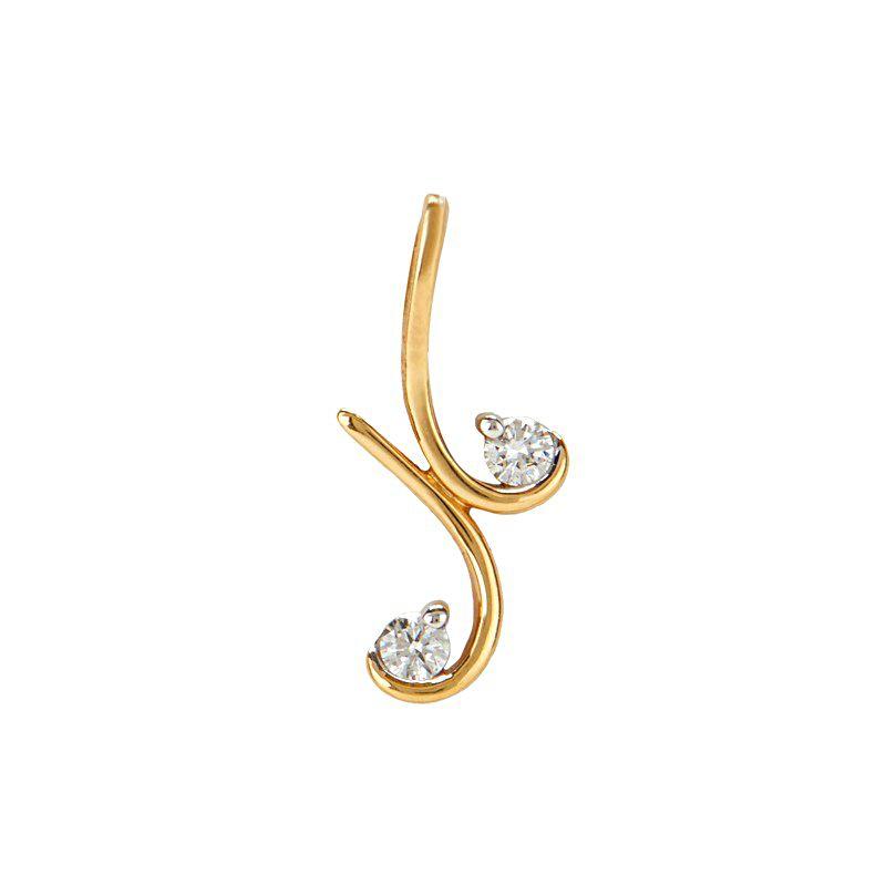 18k Diamond Scroll Diamond Pendant