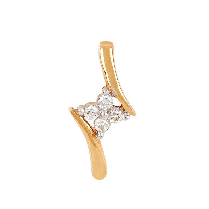 18k Diamond Bloom Diamond Pendant