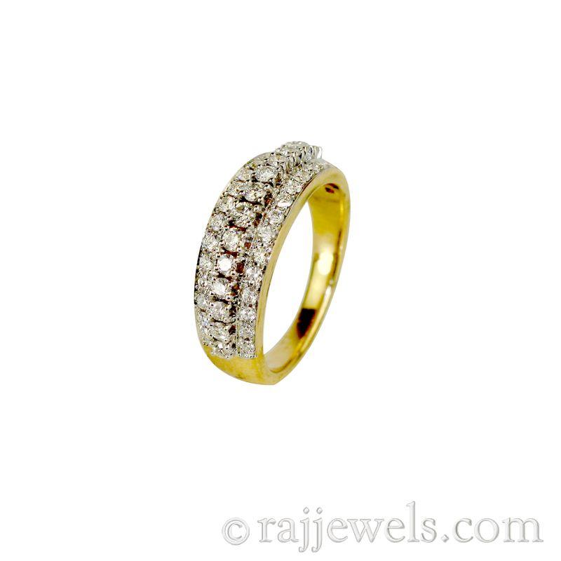18k Diamond Eternity Cluster Ring