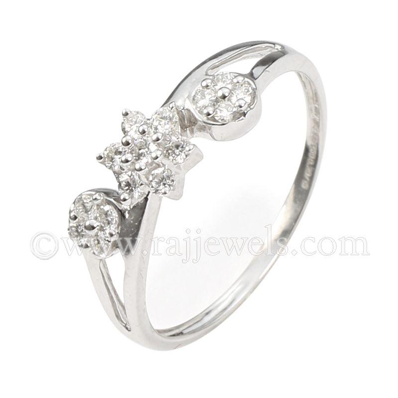 18k Diamond Sunflower Design Ring