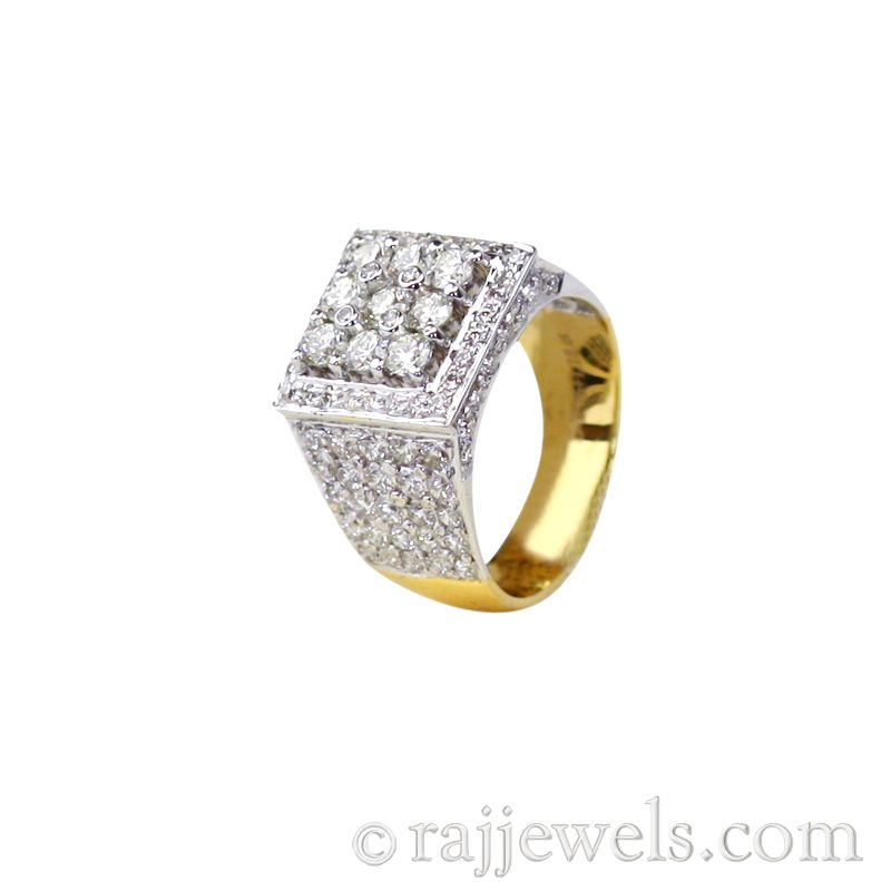 22k Diamond 18K Diamond Men's Ring