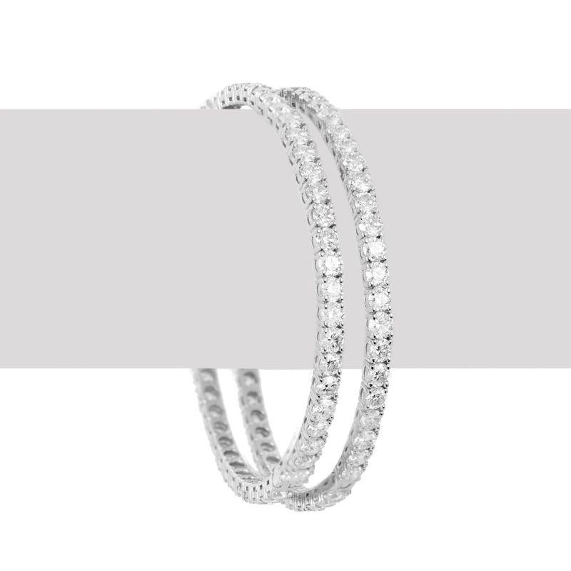 18k Diamond Sparkling Solitaire Bangles