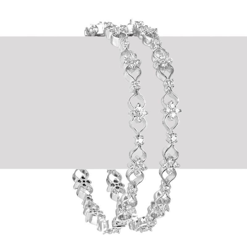 18k Diamond White Diamond Flora Bangles