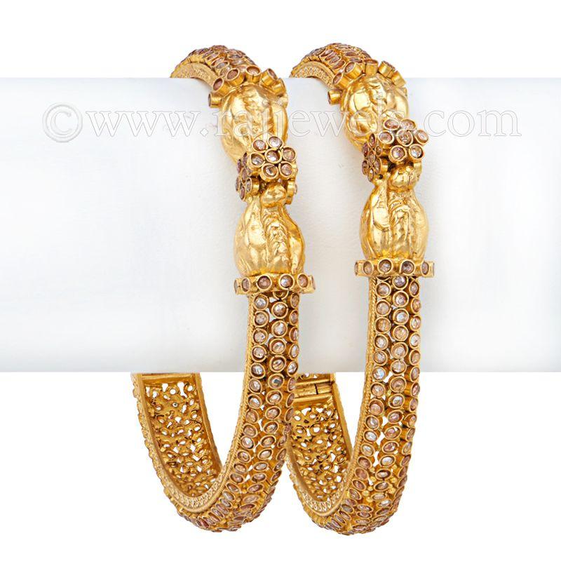 22k Gold Eesaa Antique Gold Bangles