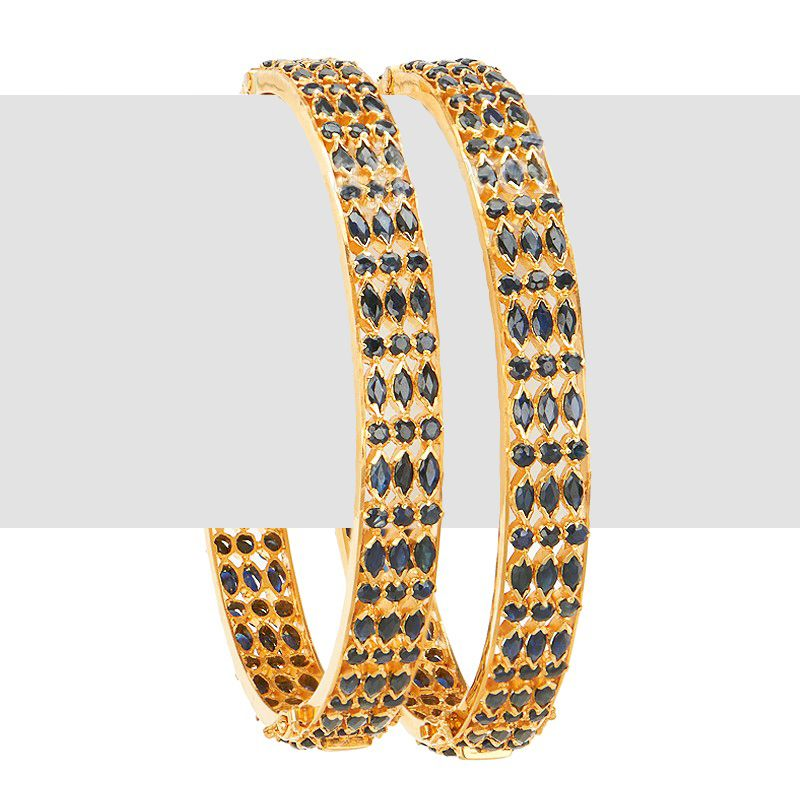 22k Gold 22K Sapphire Bangles