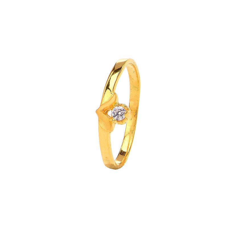 22k Gold CZ Stone Baby Ring