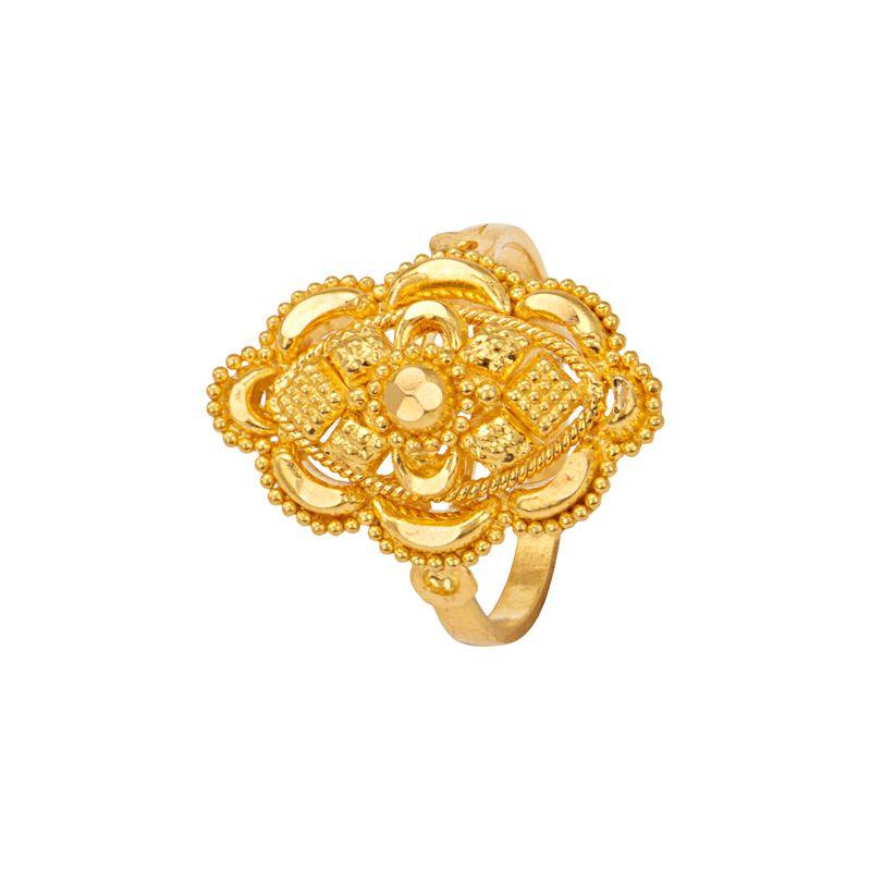 22k Gold Filigree Design Ring