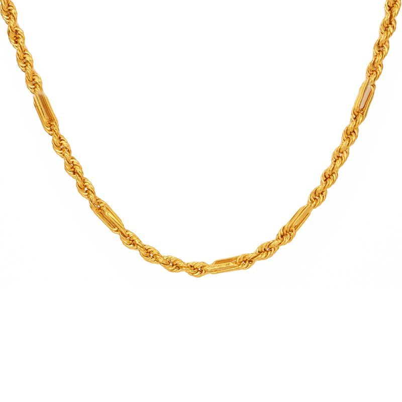 22k Gold Milano Rope Gold Chain - 26