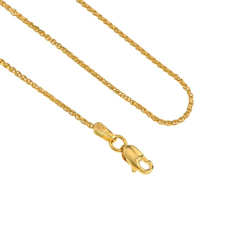 22k Gold Parisian Wheat Chain - 16