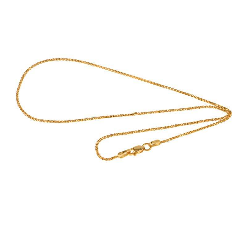 22k Gold Parisian Wheat Chain - 20