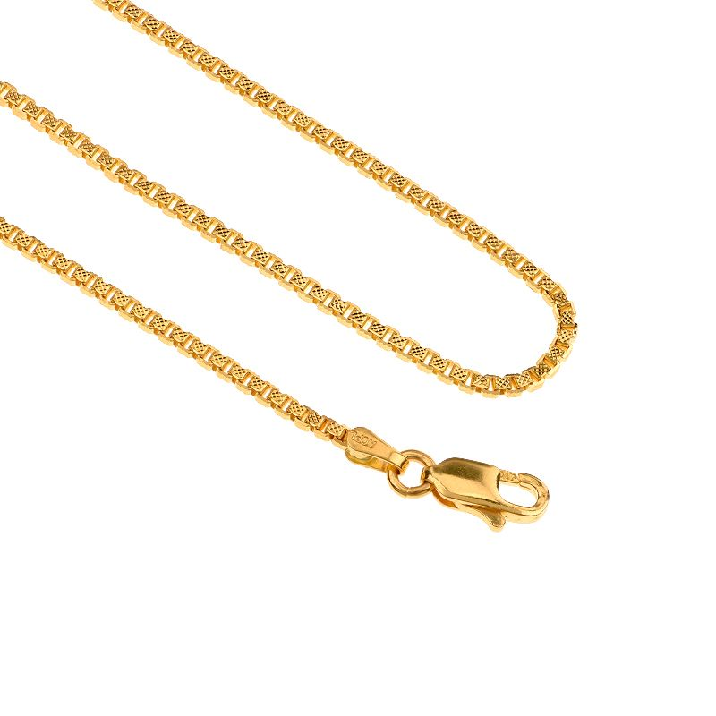 22k Gold Star Box Gold Chain - 26