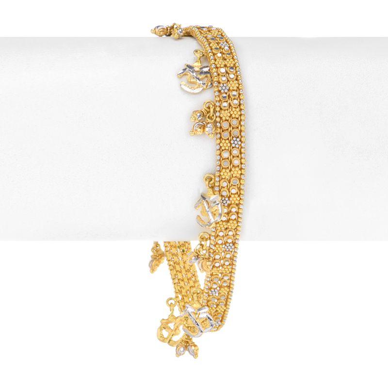 22k Gold Om Charms Gold Bracelet
