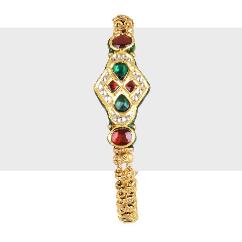 22k Gold Decorative Antique Bracelet