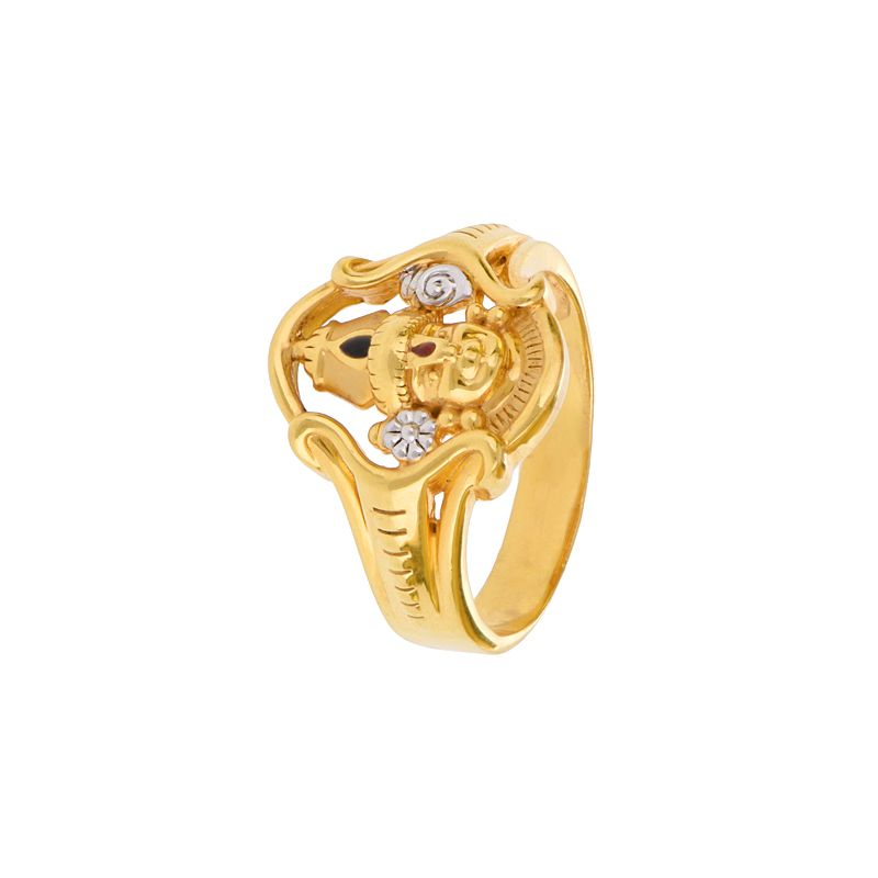 22k Gold Religious Balaji Ring