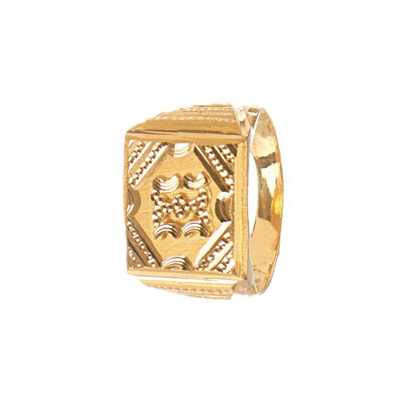 22k Gold Macho Shield Ring