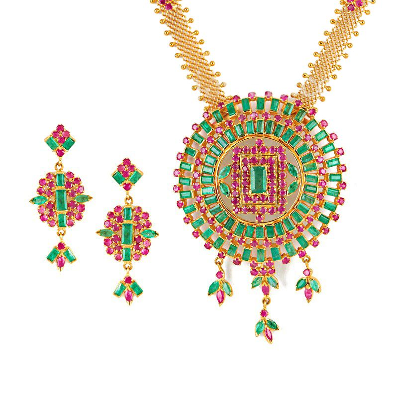 22k Gold Tanirika Gems Necklace