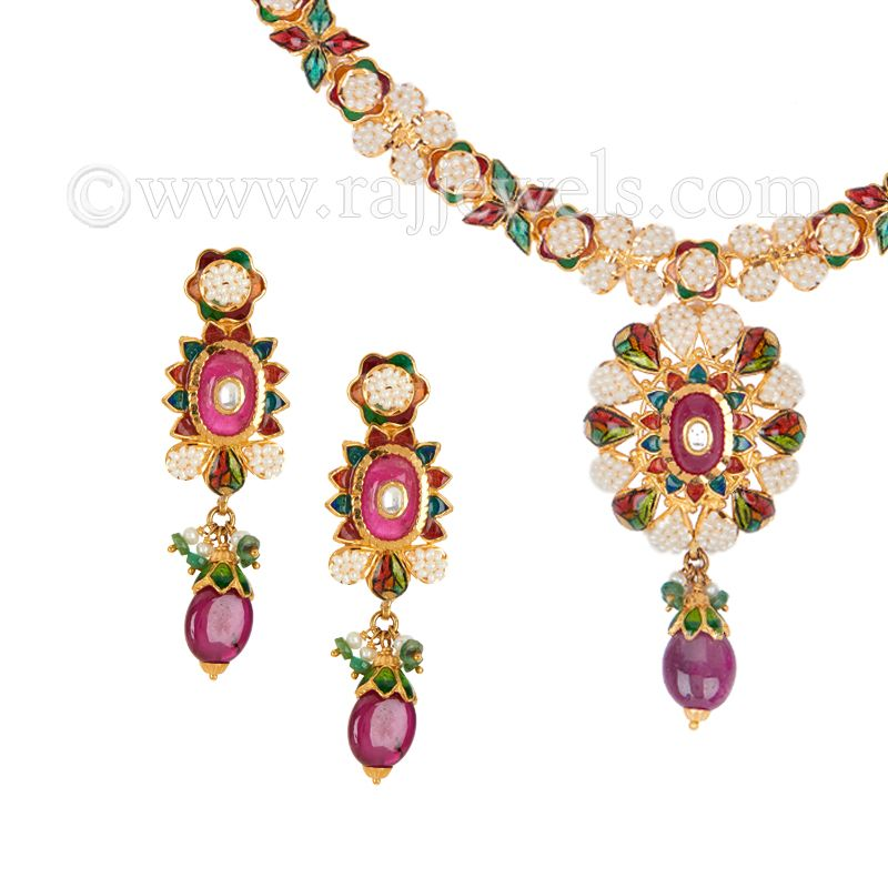 22k Gold Anik Basra Pearl Necklace