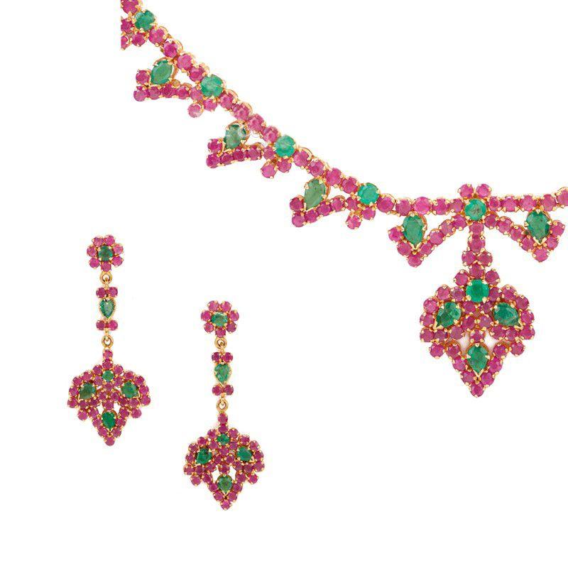 22k Gold Ruby & Emerald Saga