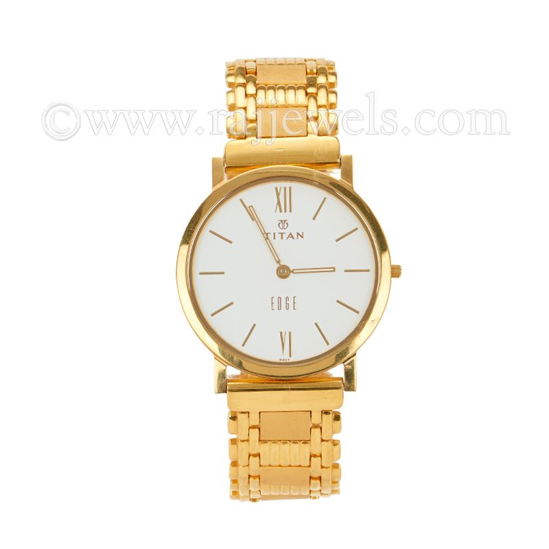 22k Gold Men's Titan Gold Watch