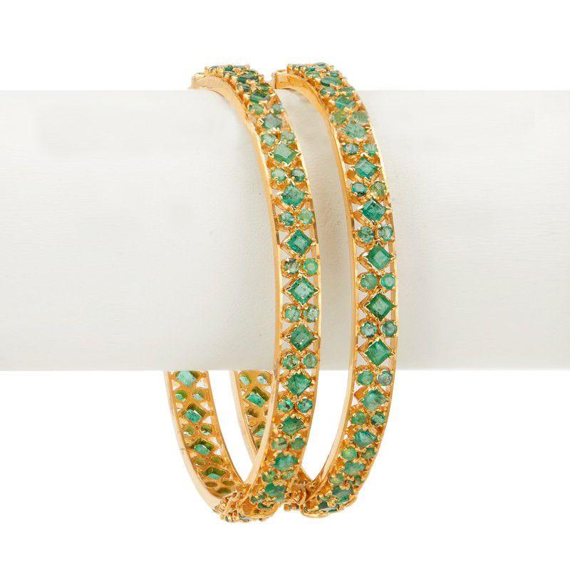 22k Gold 22K Emerald Bangles