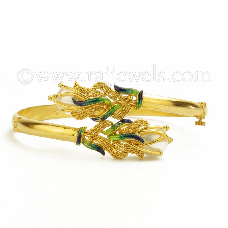 22k Gold Golden Flames Bracelet