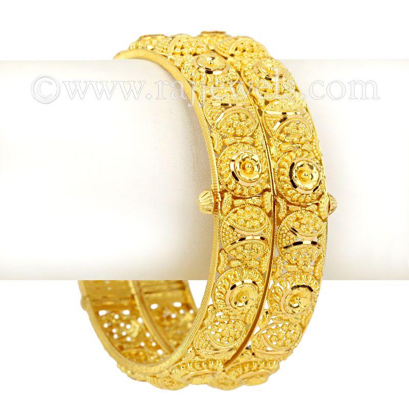 22k Gold Aksha Gold Bangles
