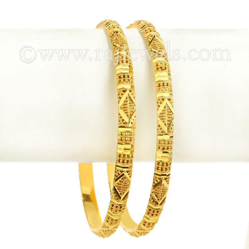 22k Gold Classic Yellow Gold Bangles