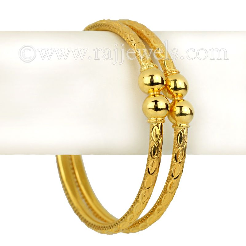 22k Gold Self Design Gold Bangles