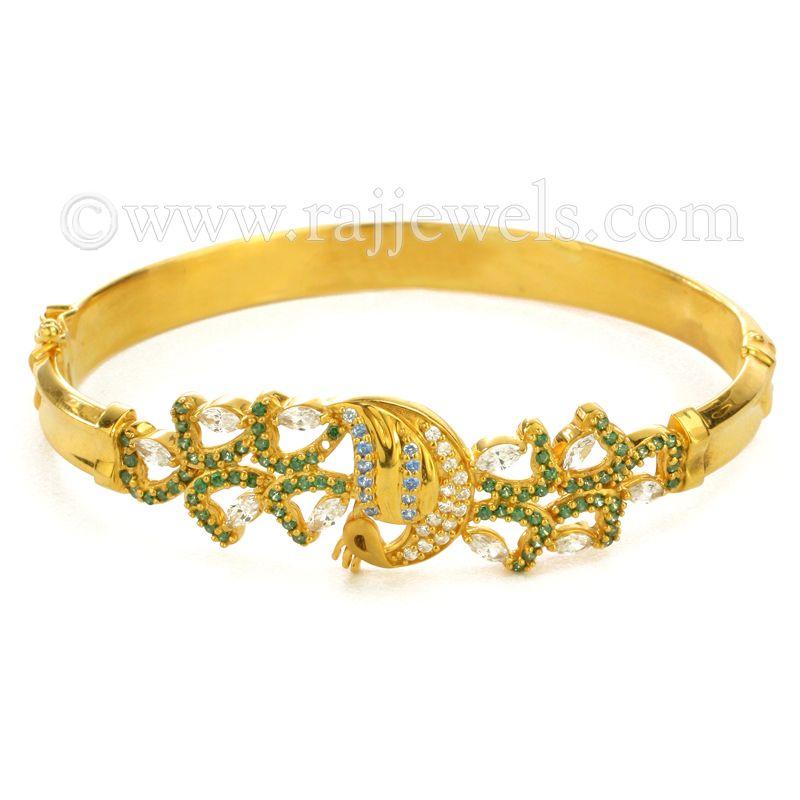 22k Gold Artistic Peacock Bracelet