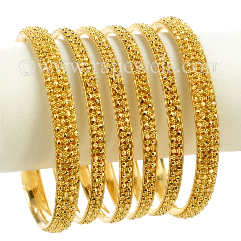22k Gold Yazana Gold Bangles