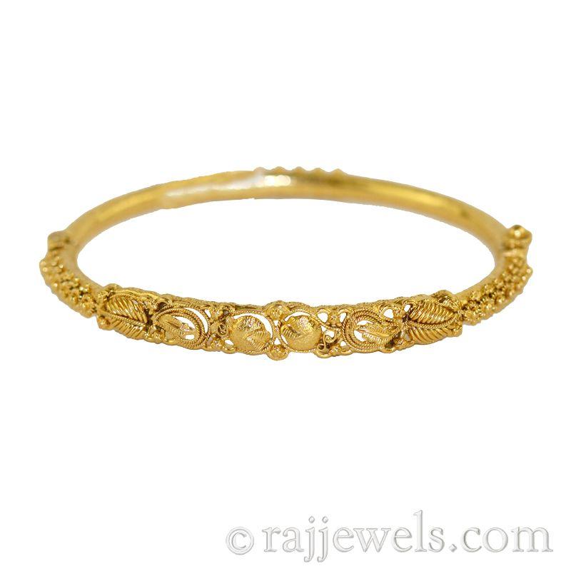 22k Gold 22K Antique Gold Bangle Bracelet