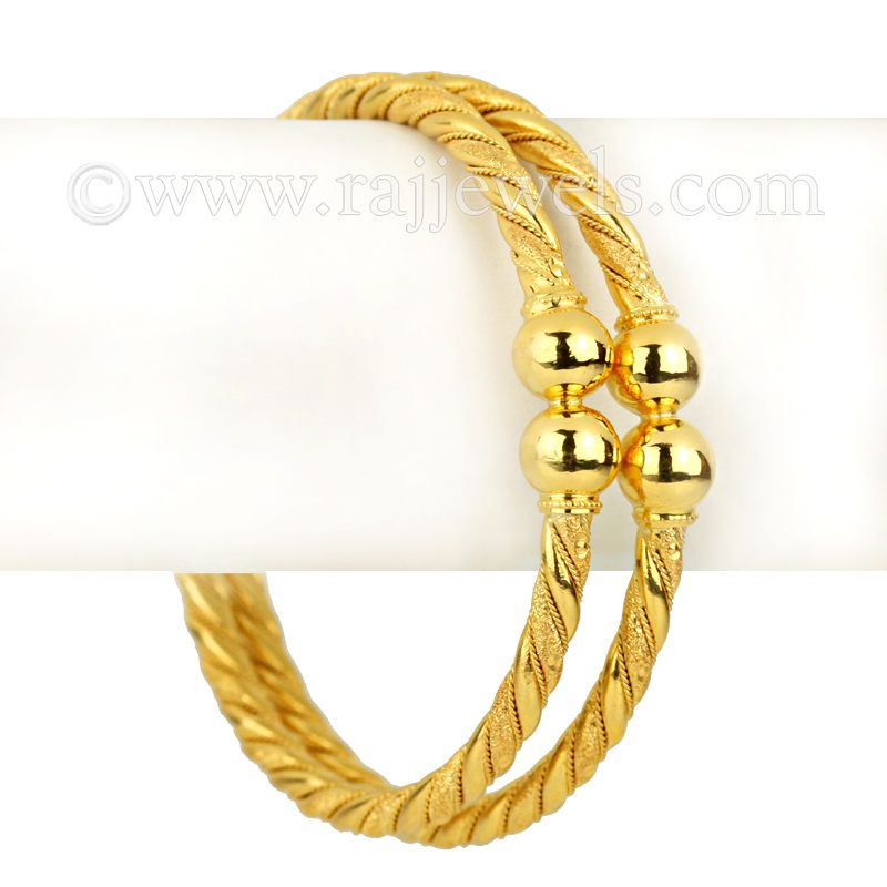 22k Gold Anubi Gold Bangles