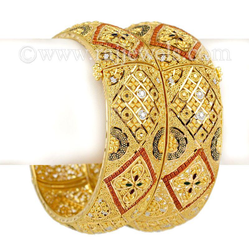 22k Gold Tapati Gold Kadas