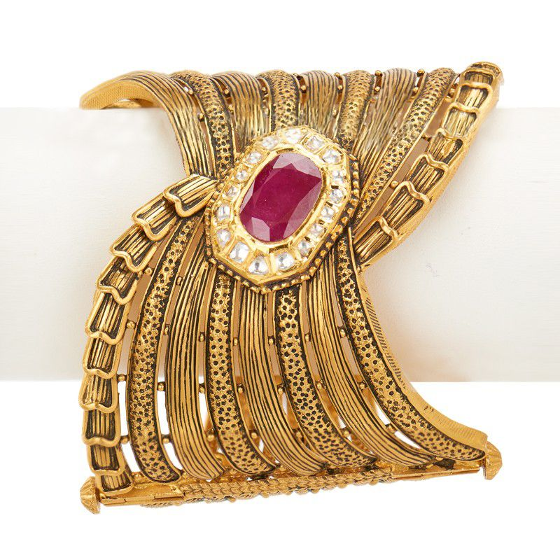 22k Gold 22K Gold Antique Bangle(Kada)