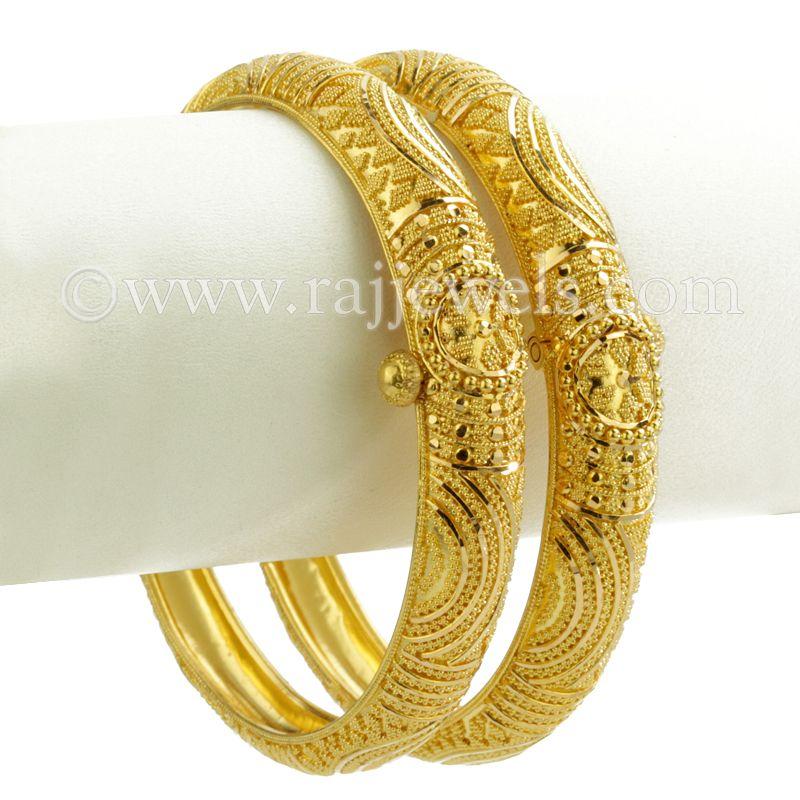 22k Gold Suhaa Gold Bangles (kadas)