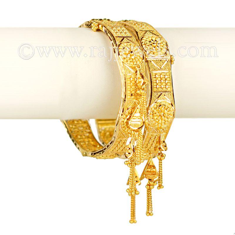 22k Gold Dangling Filigree Kadas