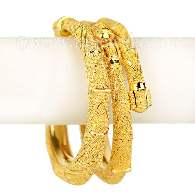 22k Gold Designer Wrap Kadas