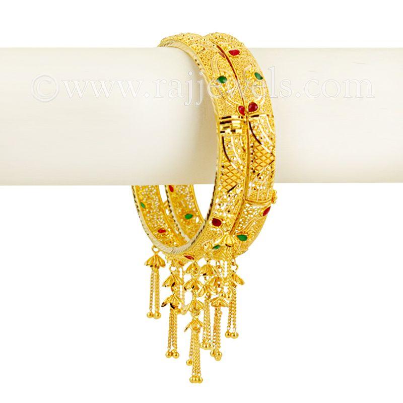 22k Gold Jhumar Gold Bangles