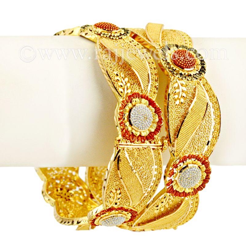 22k Gold Almas Gold Bangles