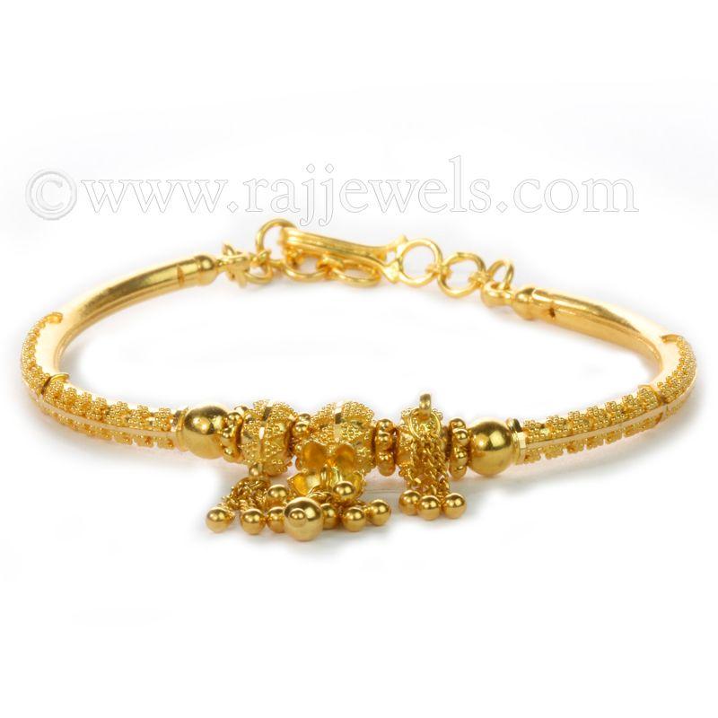 22k Gold Frey Oval Bracelet