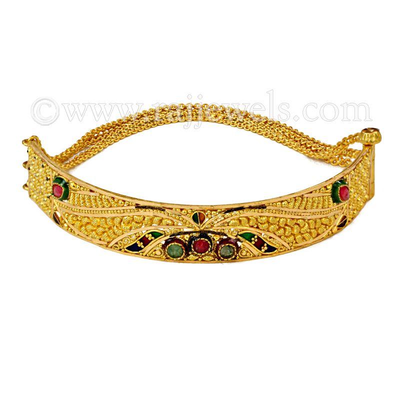 22k Gold Friska Motif Bracelet