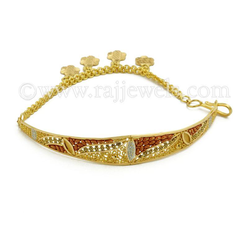 22k Gold Enamia Motif Bracelet