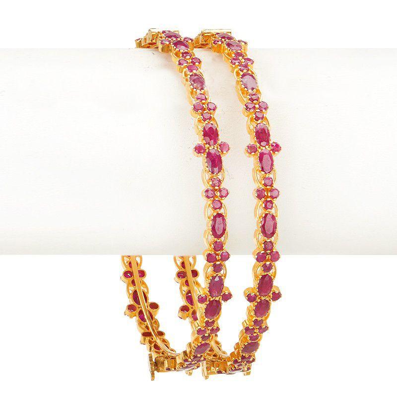 22k Gold Stunning Ruby Bangles