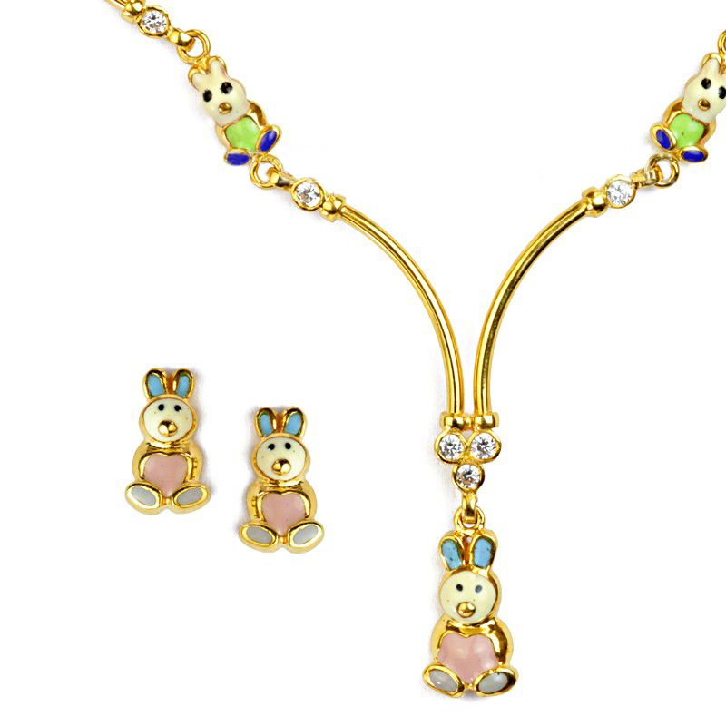 22k Gold Easter Bunny Necklace
