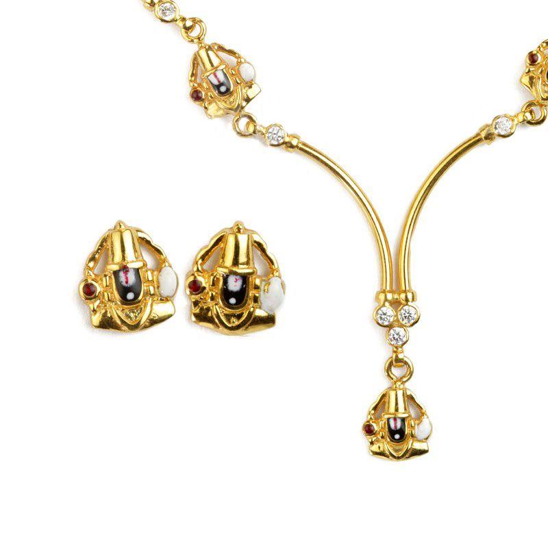 22k Gold Balaji Gold Necklace